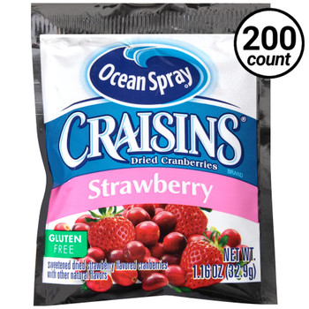 Ocean Spray Craisins, Strawberry, 1.16 Oz Pouch (200 Count)