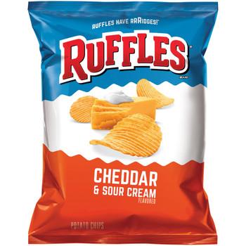 Ruffles Cheddar & Sour Cream, 2.375 oz. BIG bag (1 count)