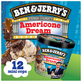 Ben & Jerry's, Americone Dream (Stephen Colbert's) Ice Cream Cups (12 Count)