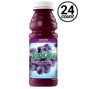 Tropicana, Grape 100% Juice, 15.2 oz. Bottle (24 Count)