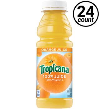 Tropicana, Orange 100% Juice, 15.2 oz. Bottle (24 Count)