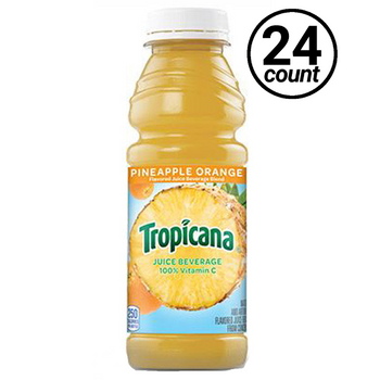 Tropicana, Pineapple Orange 100% Juice, 15.2 oz. Bottle(24 Count)