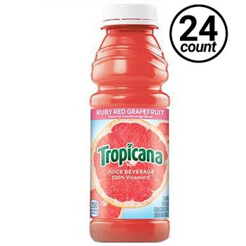 Tropicana, Ruby Red Grapefruit 100% Juice, 15.2 oz. Bottle (24 Count)