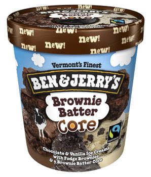 Ben & Jerry's, Brownie Batter Core, Pint (1 Count)