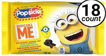 Minions Popsicle, 3.38 oz. (18 Count)