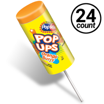 Popsicle, Orange Burst Pop-Ups, 2.75 oz. (24 count)