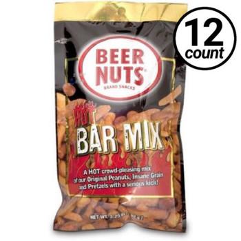 Beer Nuts, HOT Bar Mix, 3.25 Oz Peg Bag (12 count)