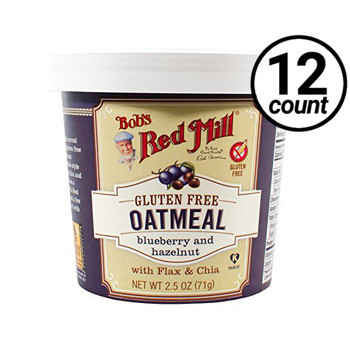 Bob's Red Mill, Blueberry Hazelnut Oatmeal, 2.50 oz. Cup (12 Count)