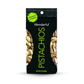 Wonderful Pistachios, Roasted & Salted, 8 oz. Gusseted Peg Bag (1 Count)