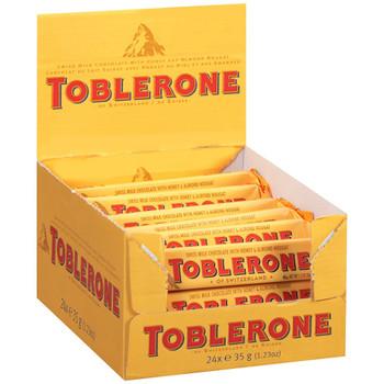 Toblerone Milk Chocolate Bar, 1.23 oz. (24 count)