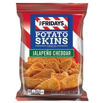 TGI Fridays, Jalapeno Cheddar Potato Skins, 3.0 oz. BIG Bag (1 Count)
