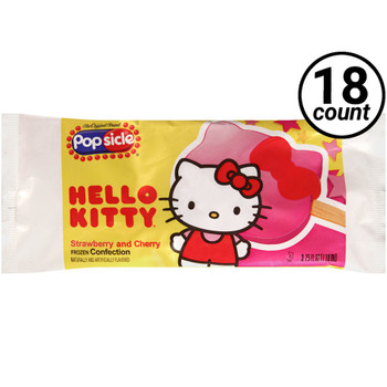 Popsicle, Hello Kitty Bar, 3.75 oz, (18 Count)