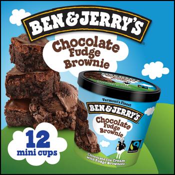 Ben & Jerry's, Chocolate Fudge Brownie Cups (12 Count)