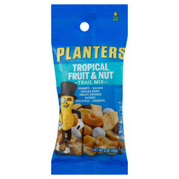 Planters Trail Mix, Tropical Fruit & Nut, 2 Oz Tube (1 Count)