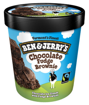 Ben & Jerry's, Chocolate Fudge Brownie Ice Cream, Pint (1 Count)