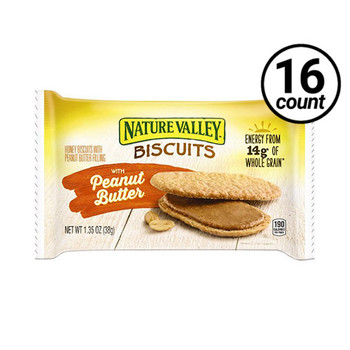Nature Valley Biscuits With Peanut Butter, 1.35 oz. (16 count)