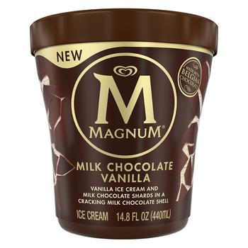 Magnum Milk Chocolate Vanilla Ice Cream, 14.8 oz. Tub (1 count)