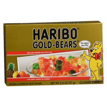 Haribo Gummi Gold-Bears, Theatre Box, 3.4 oz. (1 count)