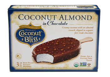 Luna & Larry's Coconut Bliss, Coconut Almond in Chocolate Bars, 3oz. bar (3 Count)
