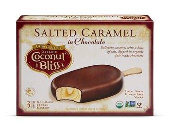 Luna & Larry's Coconut Bliss, Salted Caramel in Chocolate Bars, 3oz. bar (3 Count)