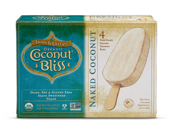 Luna & Larry's Coconut Bliss, Naked Coconut Bars, 3oz. bar (4 Count)