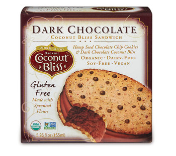 Luna & Larry's Coconut Bliss, Dark Chocolate Cookie Sandwich, 5.25oz. bar (1 Count)