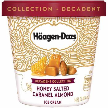 Häagen-Dazs, Decadent Collection Honey Salted Caramel Almond, Pint (1 count)