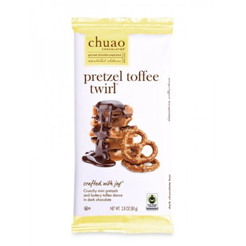 Chuao Chocolate Pretzel Toffee Twirl Bar, 2.8 oz. (12 count)