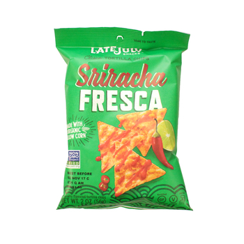 Late July, Clasico Tortilla Chips, Sriracha Fresca, 2.0 Oz bag (1 Count)
