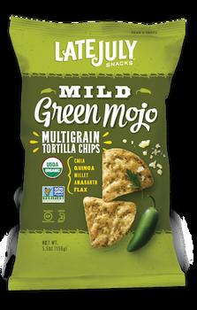 Late July, Multigrain Tortilla Chips, Mild Green Mojo, 5.5 oz. (1 count)
