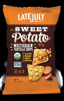 Late July, Multigrain Tortilla Chips, How Sweet Potato it is, 5.5 oz. (1 count)