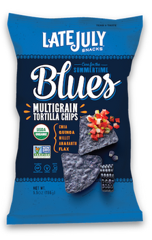 Late July Organic Snacks Multigrain Tortilla Chips, Summertime Blues, 5.5 Oz (1 Count)