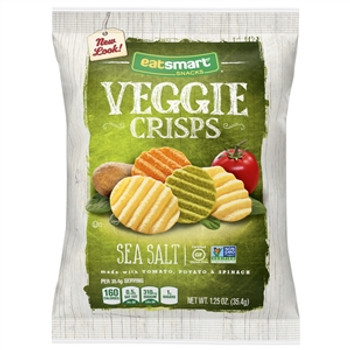 Eat Smart, Veggie Crisps Sea Salt 1.25 Oz Bag (1 Count)