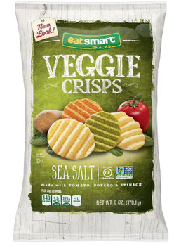 Eat Smart, Veggie Crisps Sea Salt 6.0 Oz Bag (1 Count)