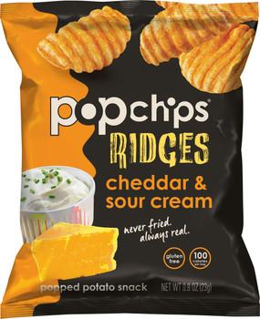 Popchips Ridges, Cheddar & Sour Cream, 0.8 Oz (1 Count)