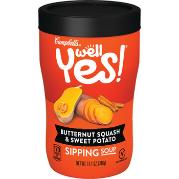 Campbell's Soup, Well Yes, Butternut Squash & Sweet Potato, 11.1 Oz Microwavable Can (1 Count)