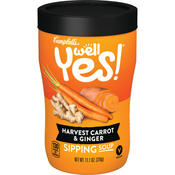 Campbell's Soup, Well Yes, Harvest Carrot Ginger, 11.1 Oz Microwavable Can (1 Count)