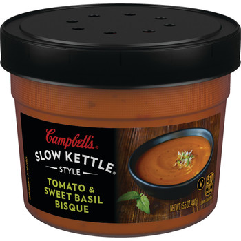 Campbell's Slow Kettle Style, Tomato & Sweet Basil Bisque, 15.5 Oz (1 Count)