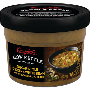 Campbell's Slow Kettle Style, Tuscan Chicken & White Bean, 15.5 Oz (1 Count)