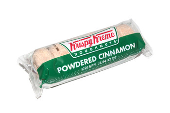 Krispy Kreme, Cinnamon Sugar Doughnuts, 3 Oz Pack (12 Count)