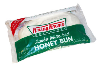 Krispy Kreme, Jumbo White Iced Honey Buns, 5 Oz (9 Count)