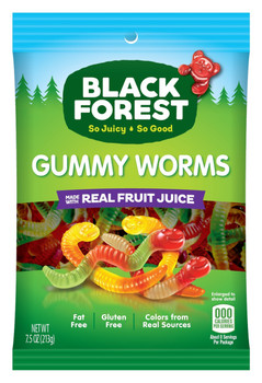 Black Forest Gummy Worms 7.5 oz. (1 count)