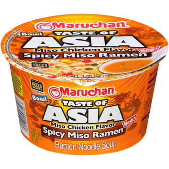 Maruchan, Taste of Asia, Spicy Miso 3.38 oz. Bowl (1 Count)