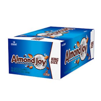 Hershey's, Almond Joy Bar, KING SIZE, 3.22 Oz (18 Count)