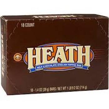 Heath English Toffee Bar, Milk Chocolate, 1.4 Oz (18 Count)