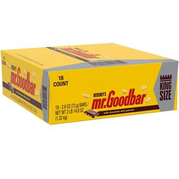 Mr Goodbar Chocolate Candy Bar, King Size, 2.6 Oz Bar (18 Count)