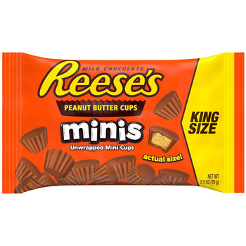 Reese's Peanut Butter Cups Minis, KING SIZE, 2.5 Oz (16 Count)