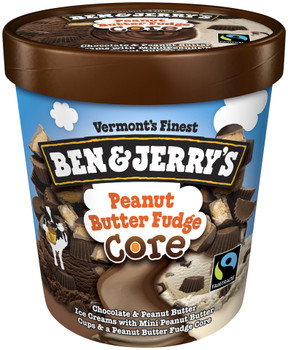 Ben & Jerry's, Peanut Butter Fudge CORE Ice Cream, Pint (1 Count)