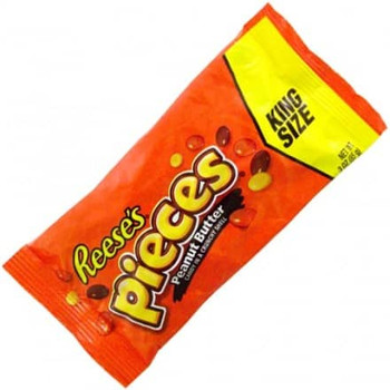 Reese's Pieces, Peanut Butter, KING SIZE, 3 Oz Bag (18 Count)