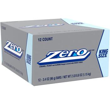 Zero Candy Bar, KING SIZE, 3.4 Oz Bar (12 Count)